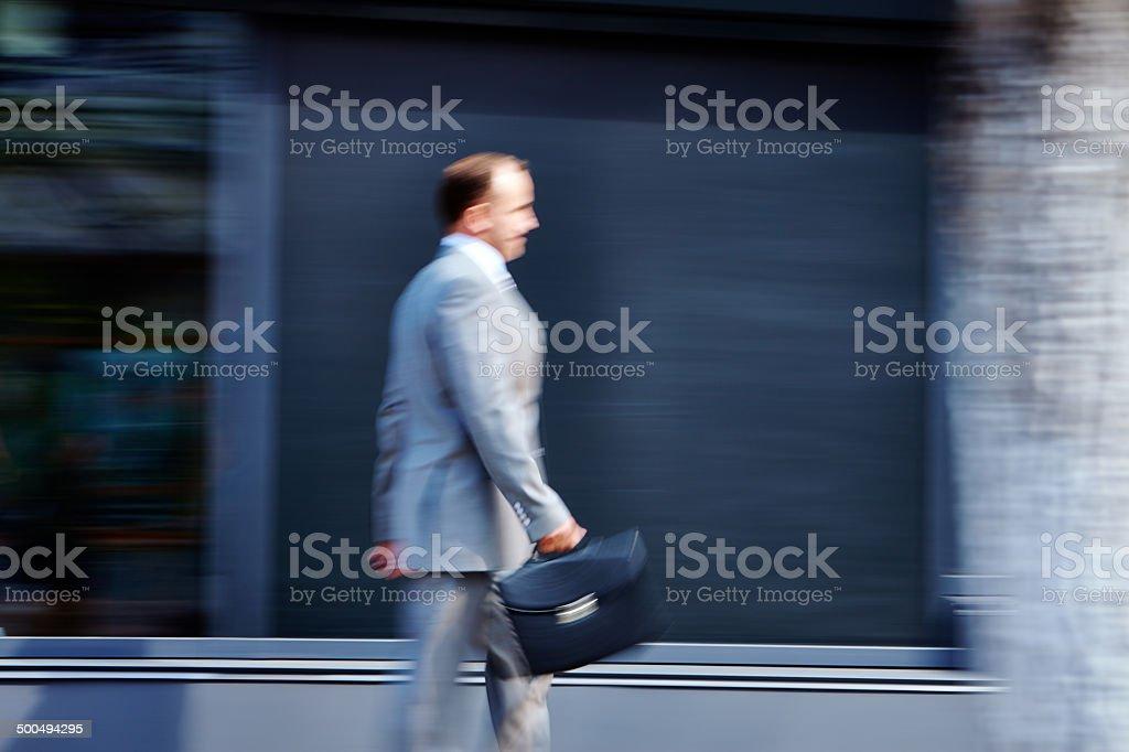 Walking businessman royalty-free stock photo