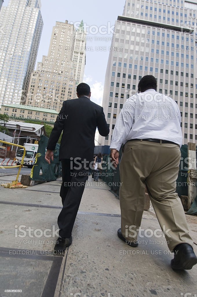 Walking by the Financial Center of New York stock photo