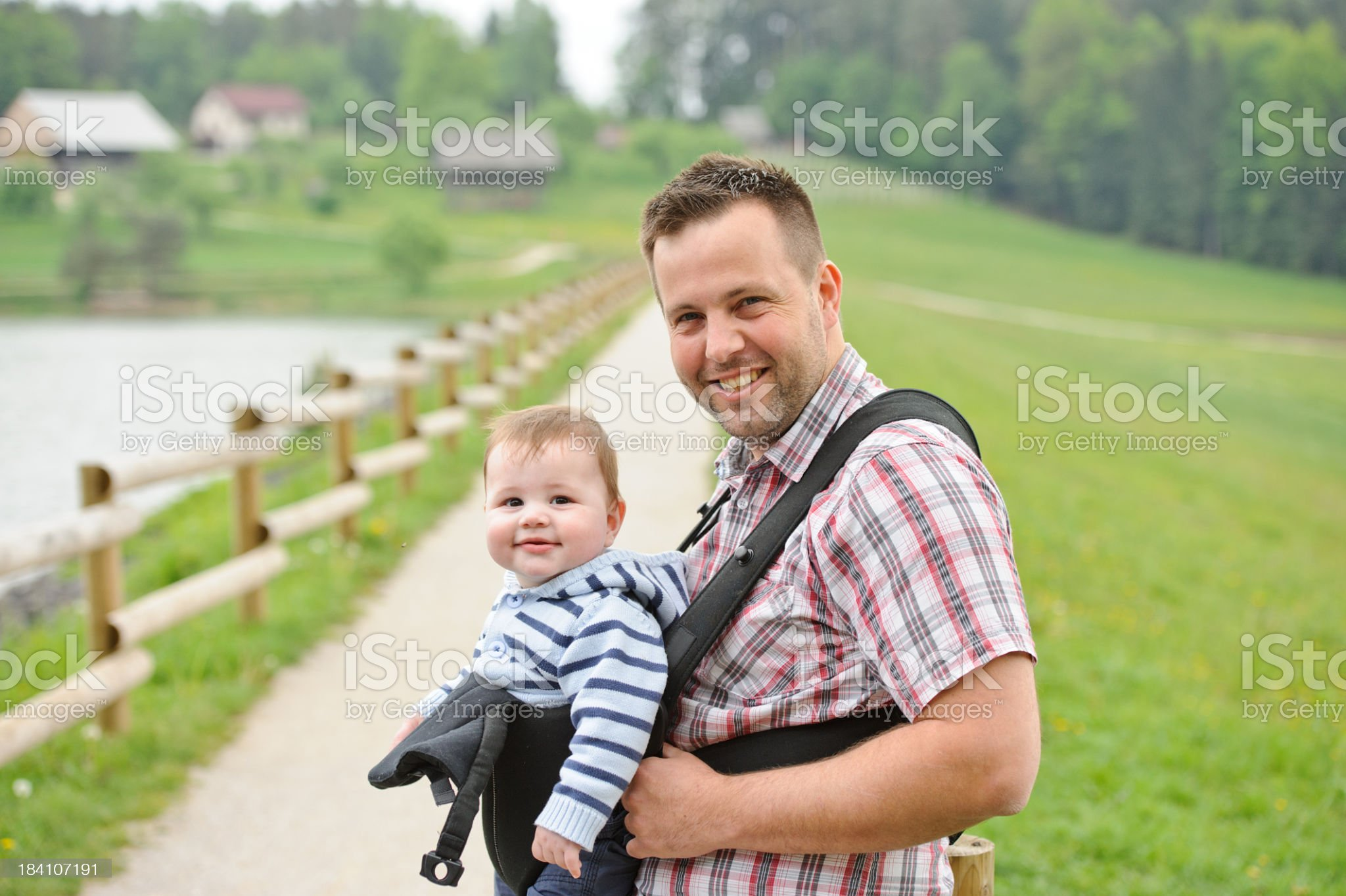 Walking by the lake royalty-free stock photo