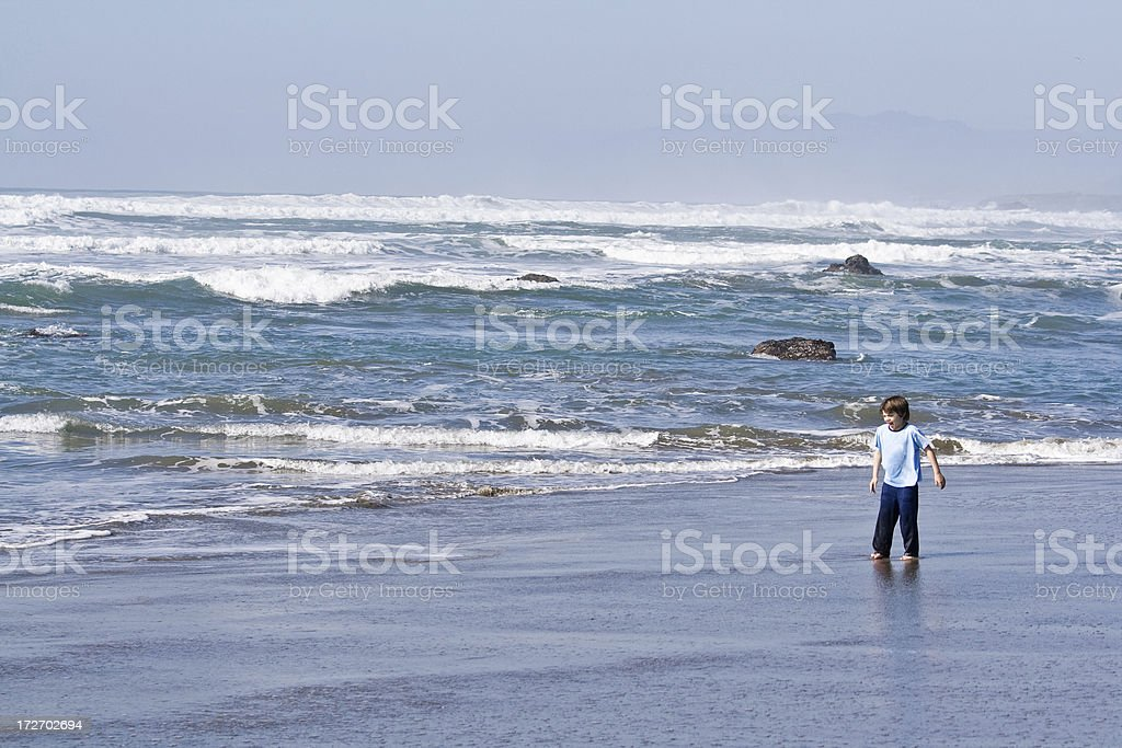 Walking By The Ocean stock photo