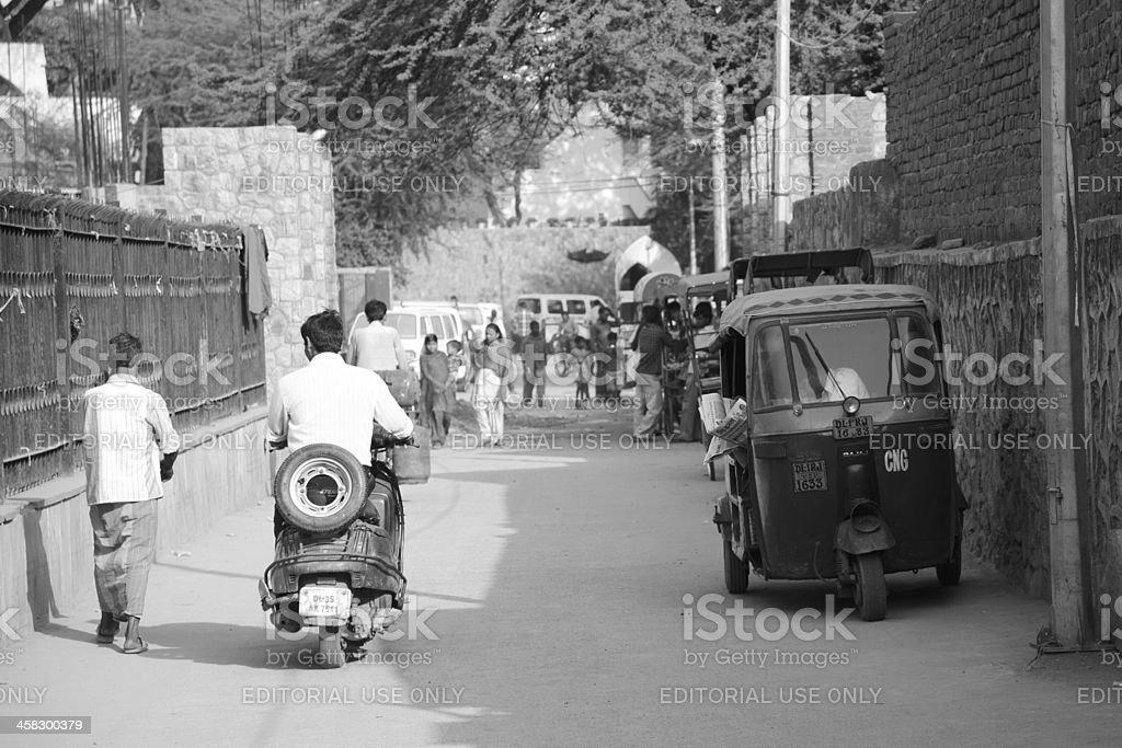 Walking by the streets of Nizamuddin royalty-free stock photo