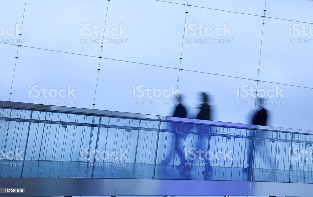 walking commuters royalty-free stock photo