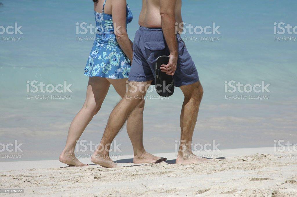 Walking Couple royalty-free stock photo