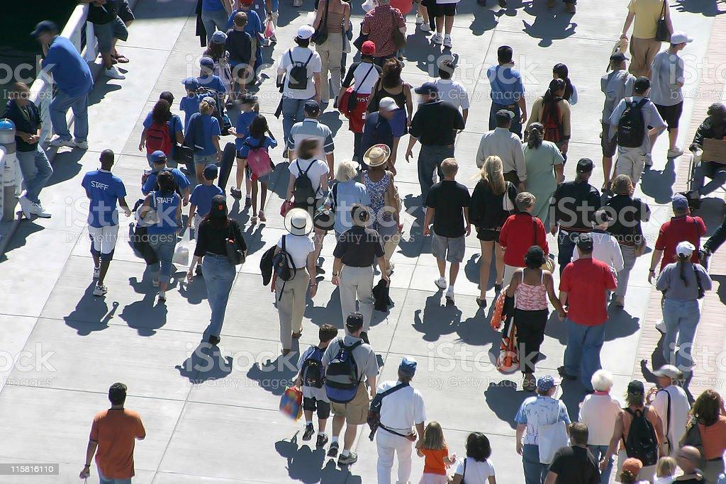 Walking Crowd royalty-free stock photo