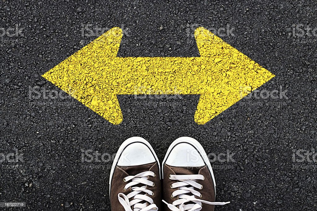 Walking direction royalty-free stock photo