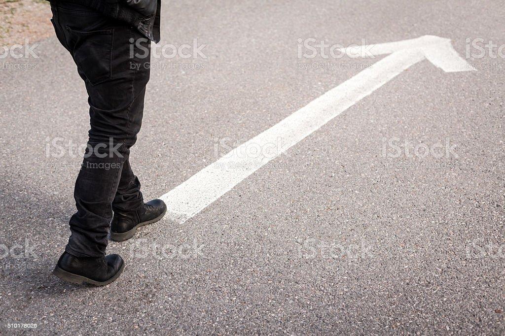 Walking Direction stock photo