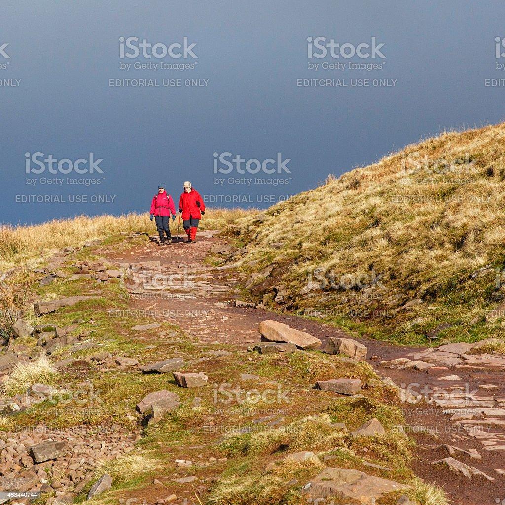 Walking Down the Hillside stock photo