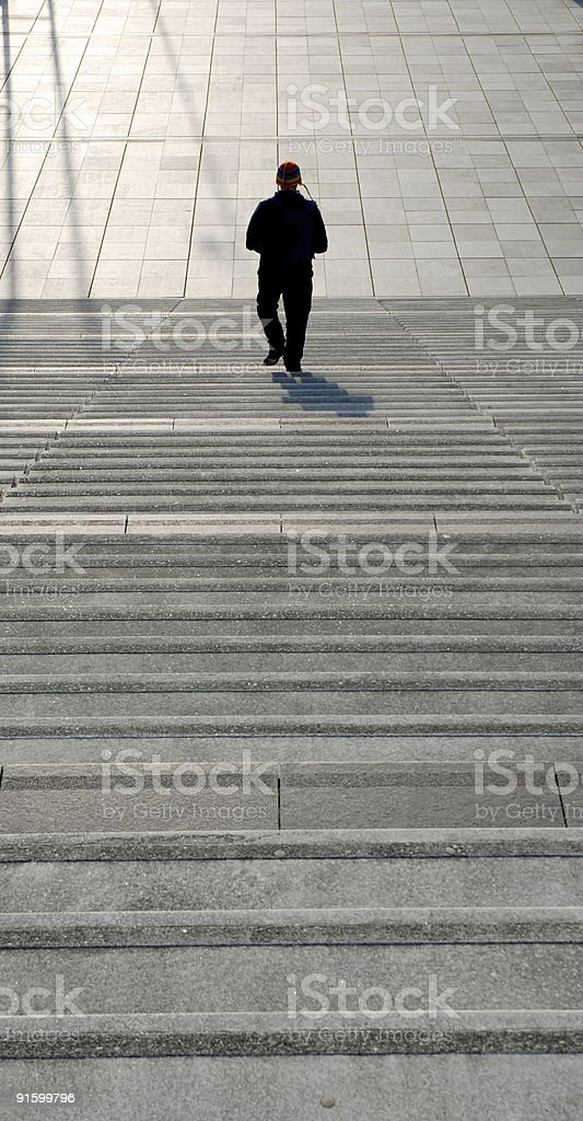 Walking down the stairs royalty-free stock photo