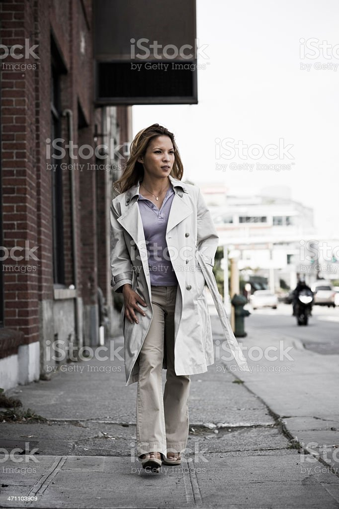 Walking down the Street royalty-free stock photo