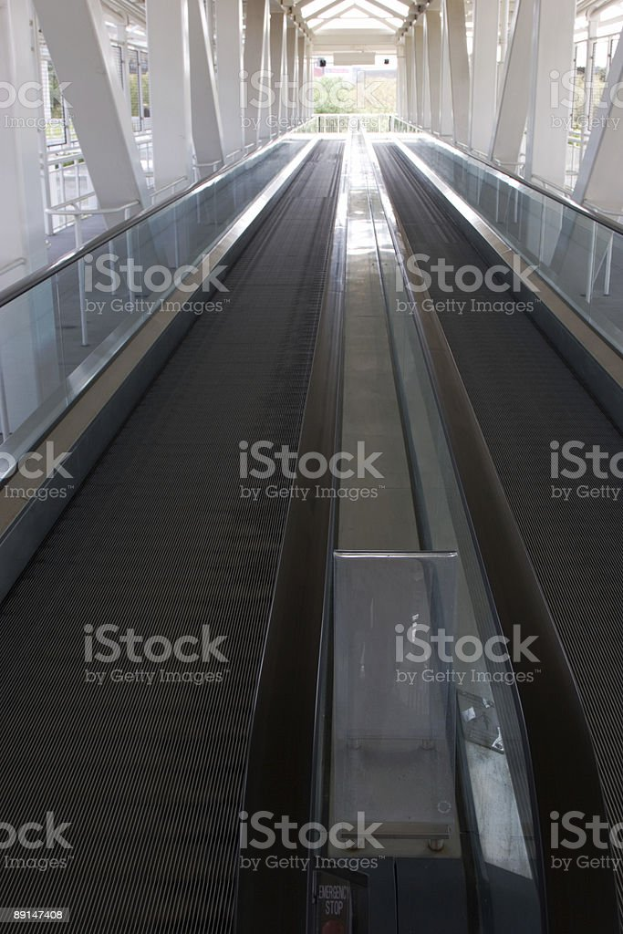 Walking Escalator royalty-free stock photo