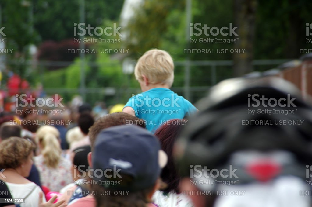 Walking event with the children stock photo