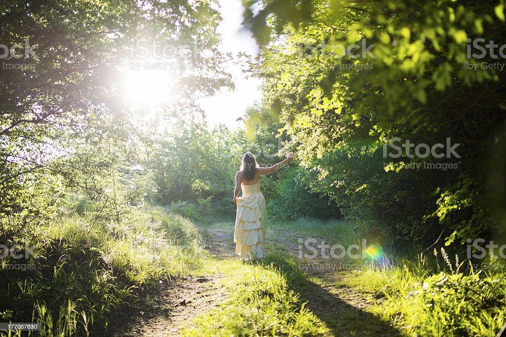 Walking fairy royalty-free stock photo