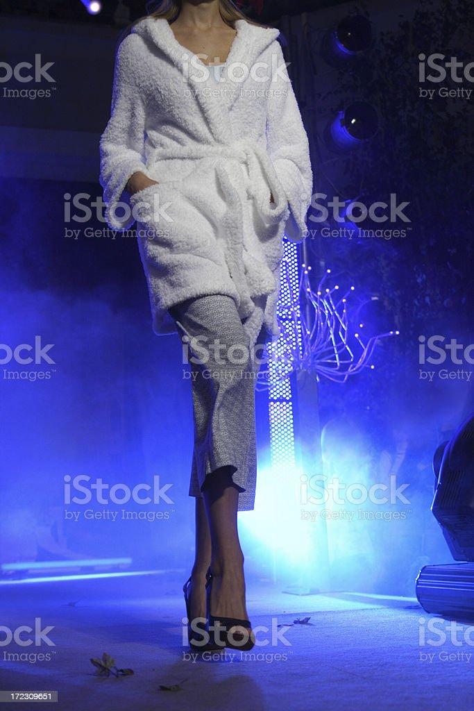 Walking fashion model royalty-free stock photo