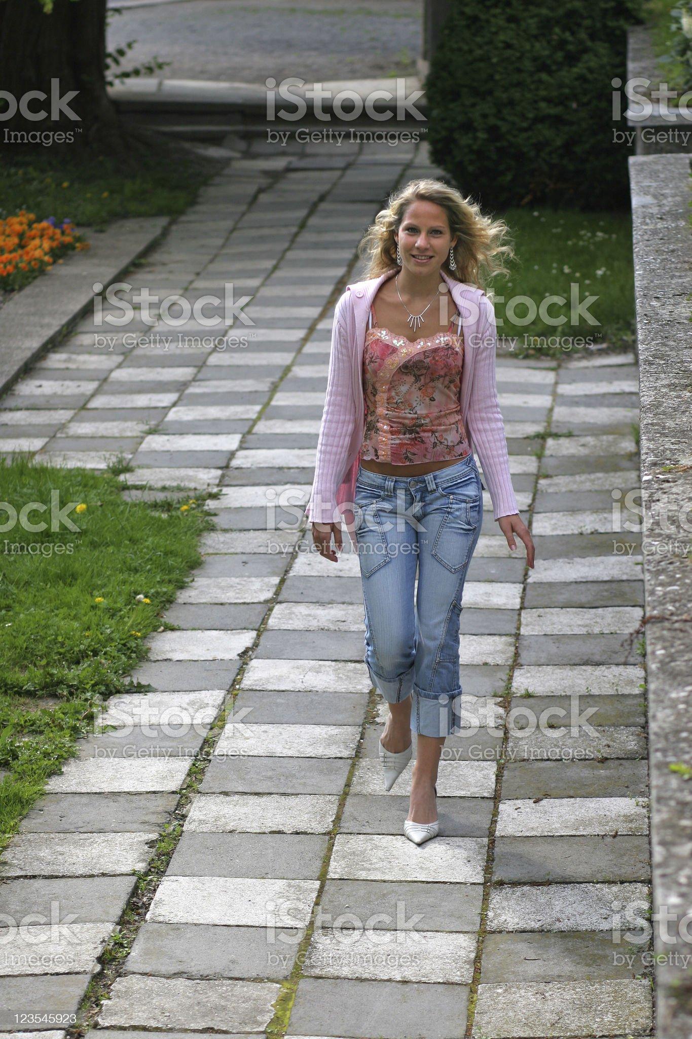 Walking fashion royalty-free stock photo