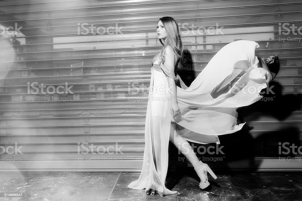 walking fashion stock photo