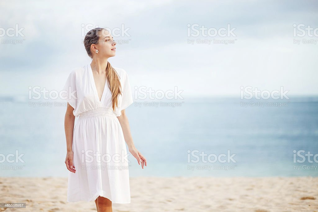 walking for pleasure royalty-free stock photo