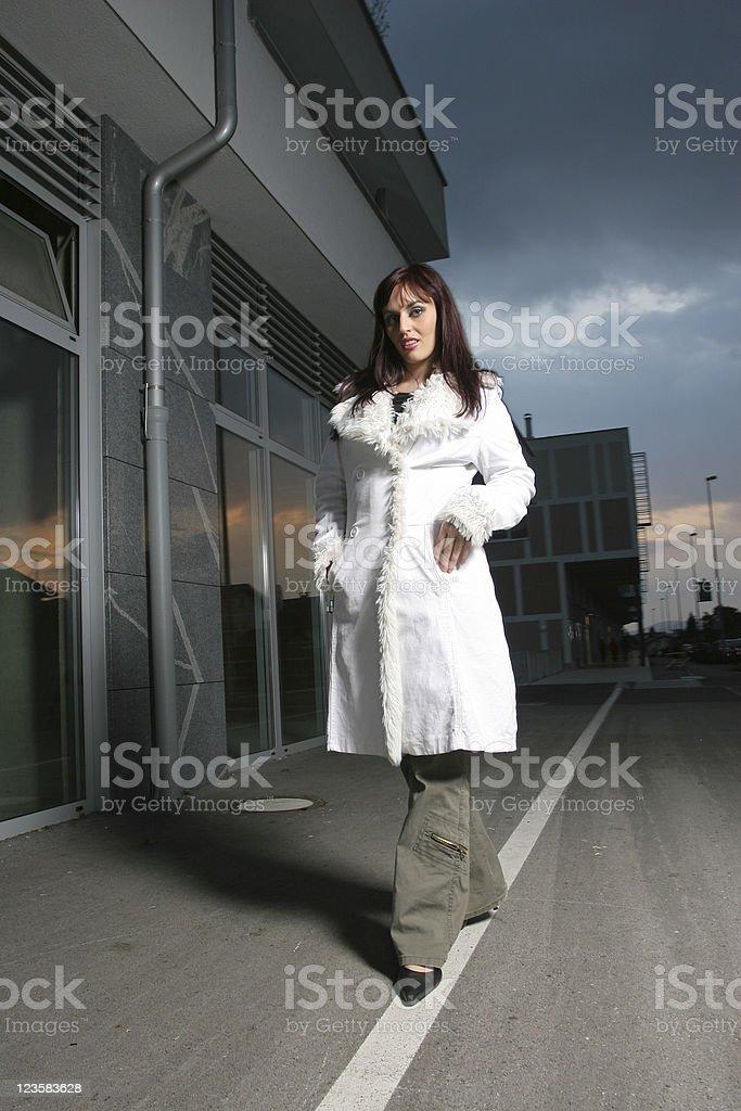 Walking home royalty-free stock photo