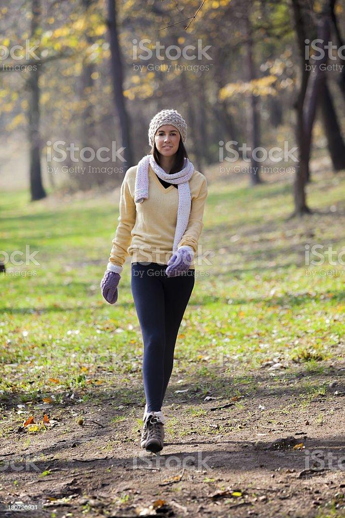 Walking in autumn royalty-free stock photo