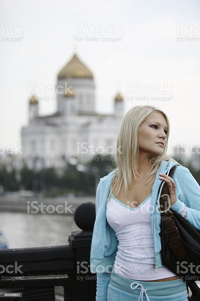 Walking in Moscow royalty-free stock photo