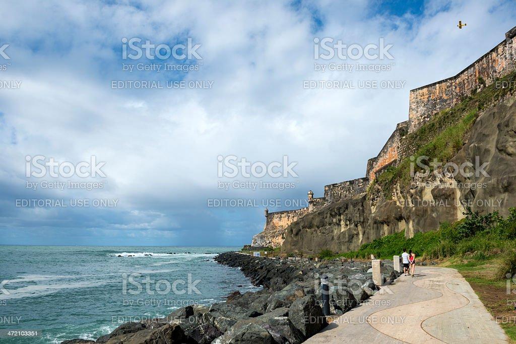 Walking in San Juan, Puerto Rico stock photo