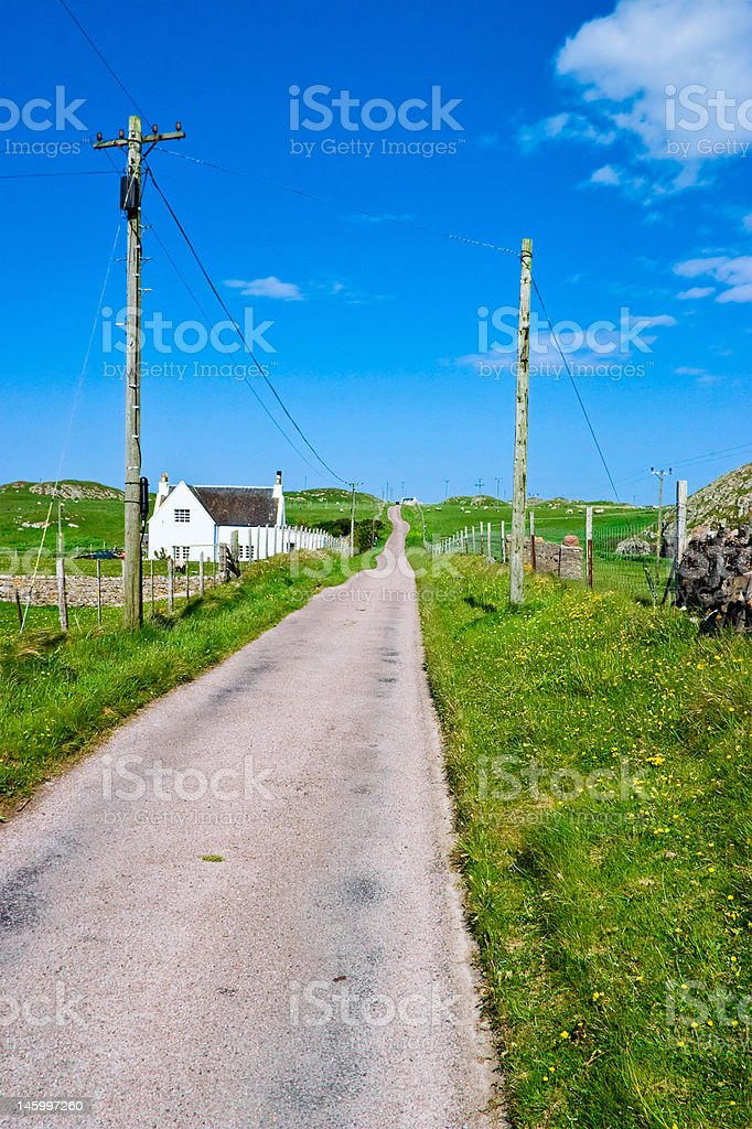 Walking in the country royalty-free stock photo