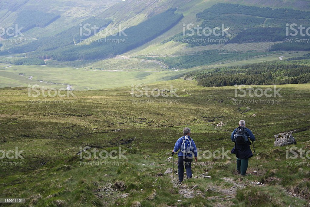 walking in the countryside royalty-free stock photo