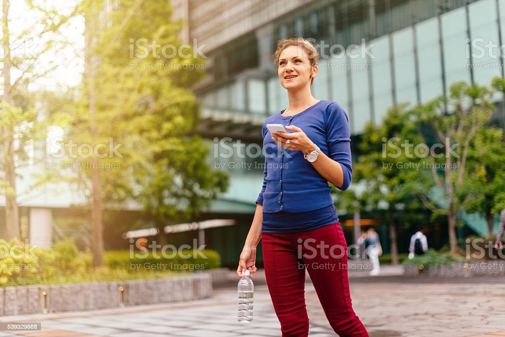 Walking in the downtown in Tokyo stock photo