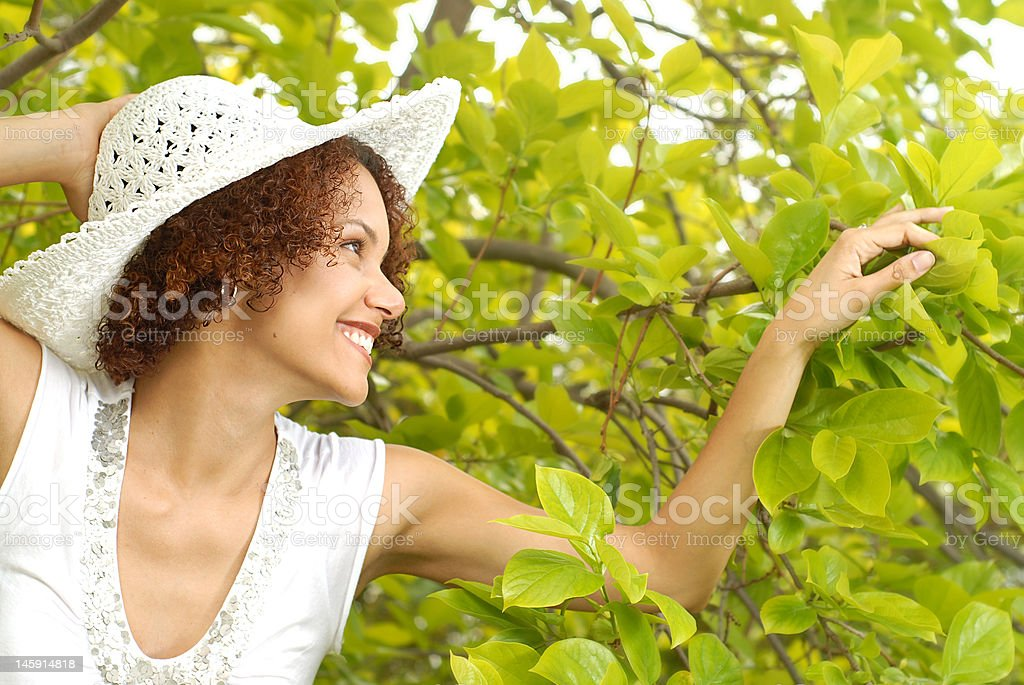 Walking in the garden royalty-free stock photo