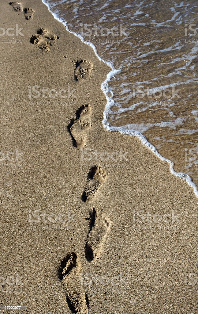 Walking in the Sand royalty-free stock photo
