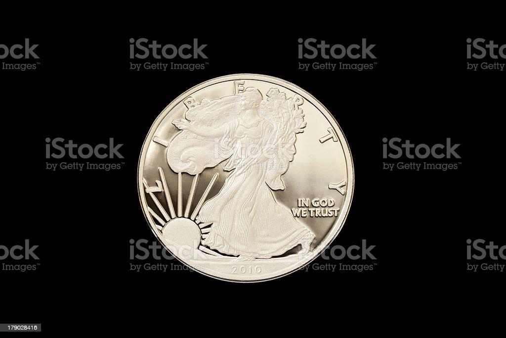 Walking Liberty Silver Proof Dollar. royalty-free stock photo