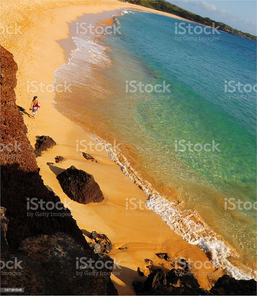 Walking Makena royalty-free stock photo