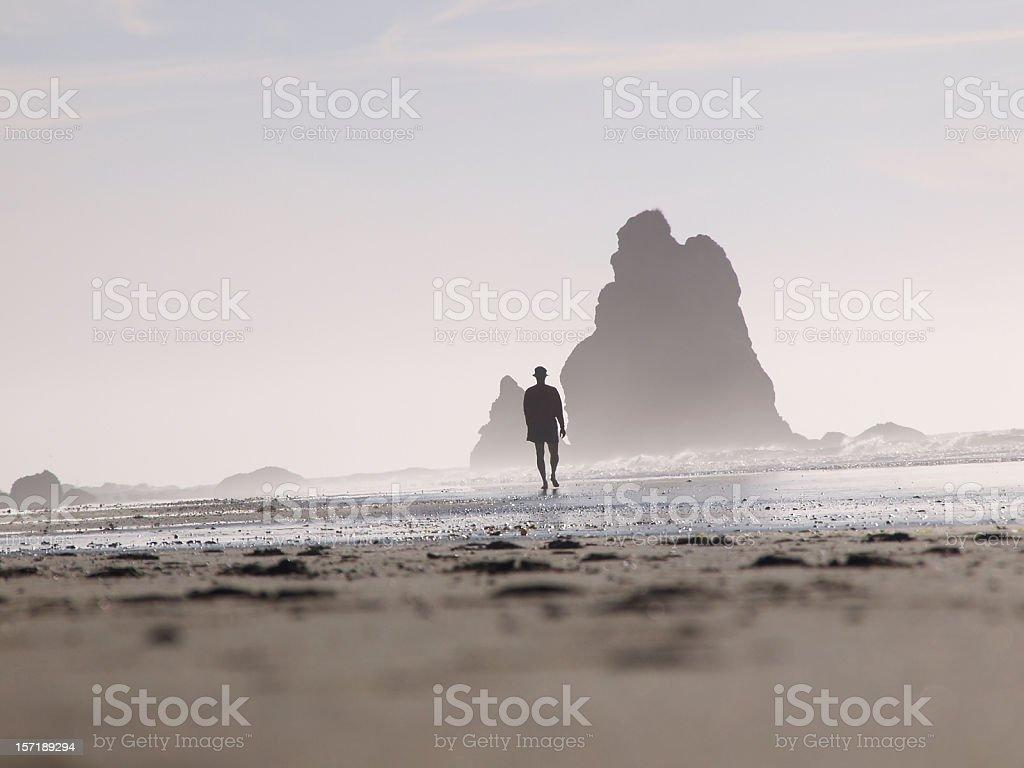 Walking Man 3 stock photo