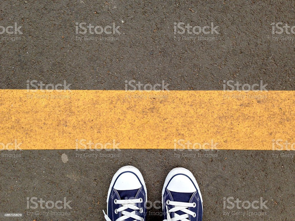 Walking Obstacle stock photo