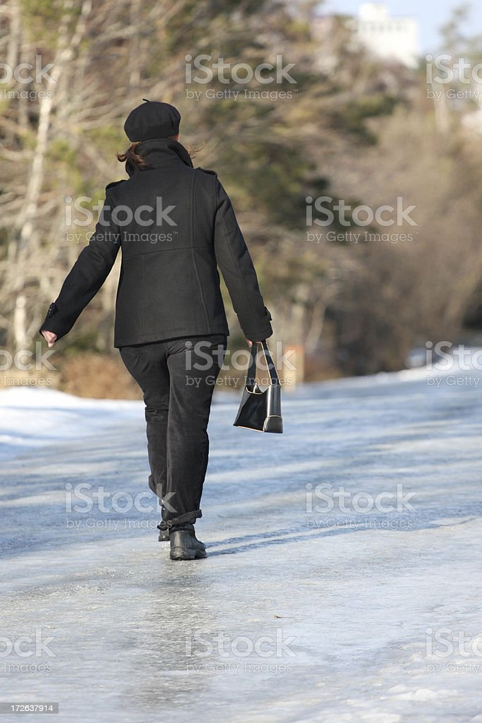 Walking On Ice royalty-free stock photo