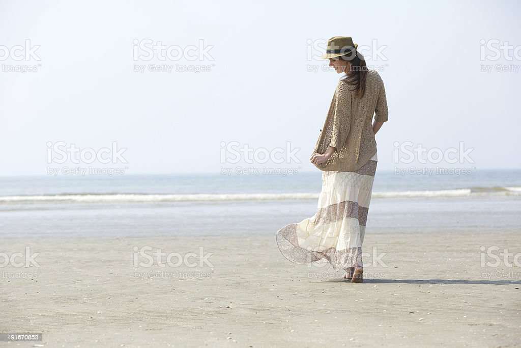 Walking on the beach royalty-free stock photo