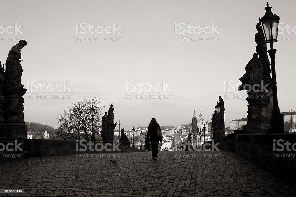 Walking on the Charles bridge. royalty-free stock photo