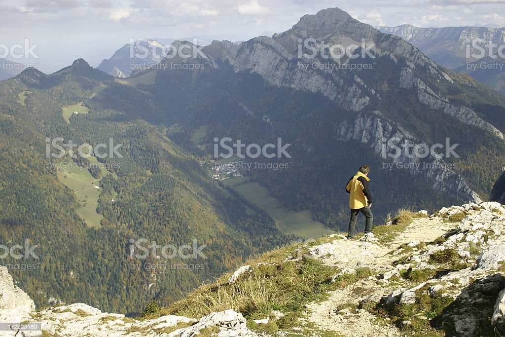 Walking on the Edge stock photo