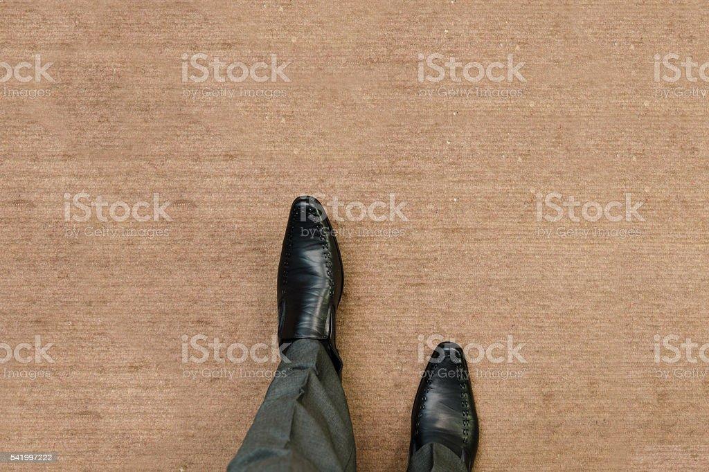Walking on the floor stock photo