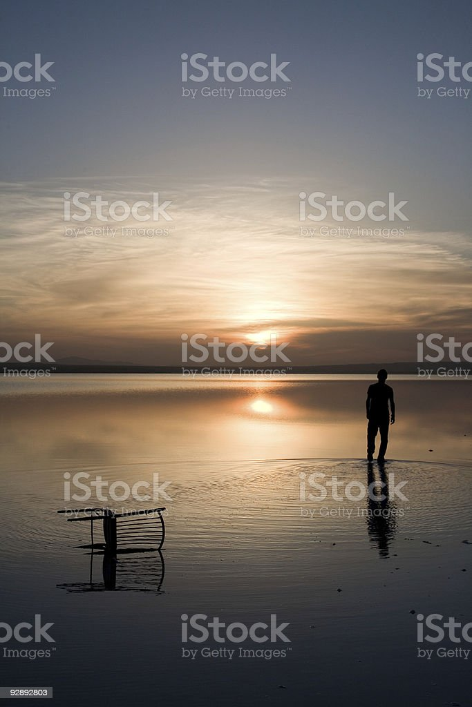 walking on the water royalty-free stock photo