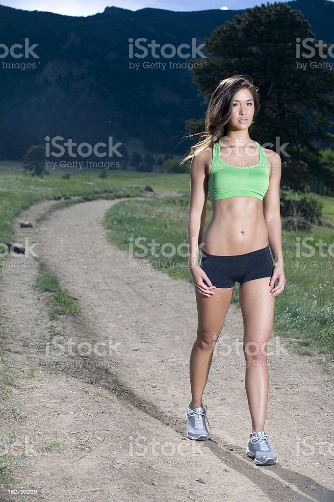Walking On Trail royalty-free stock photo