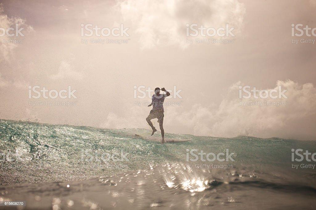 Walking on water stock photo