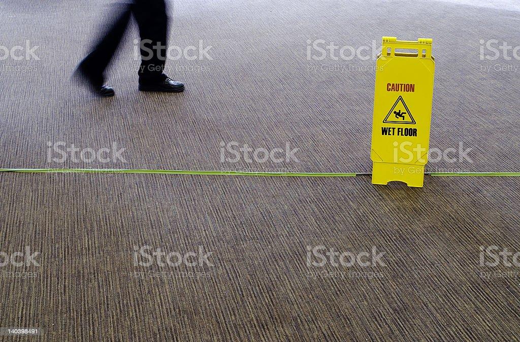 Walking on Wet Floor royalty-free stock photo