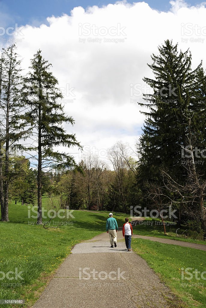 Walking outdoors royalty-free stock photo