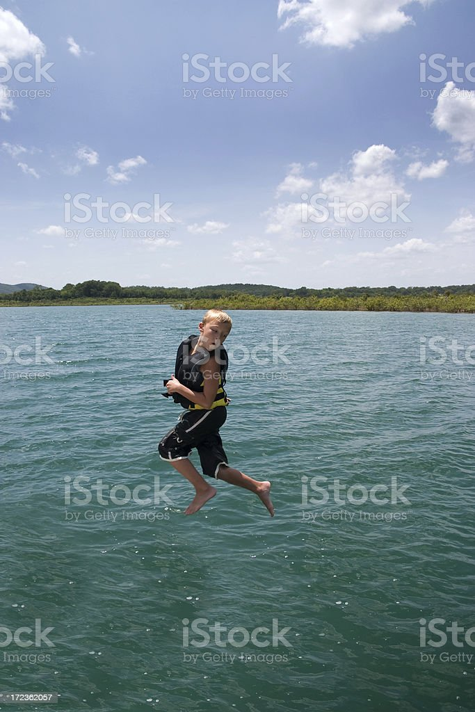 walking over water royalty-free stock photo