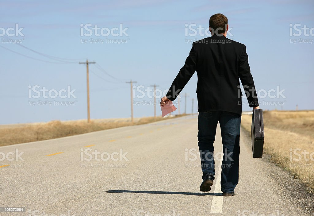 Walking Papers royalty-free stock photo