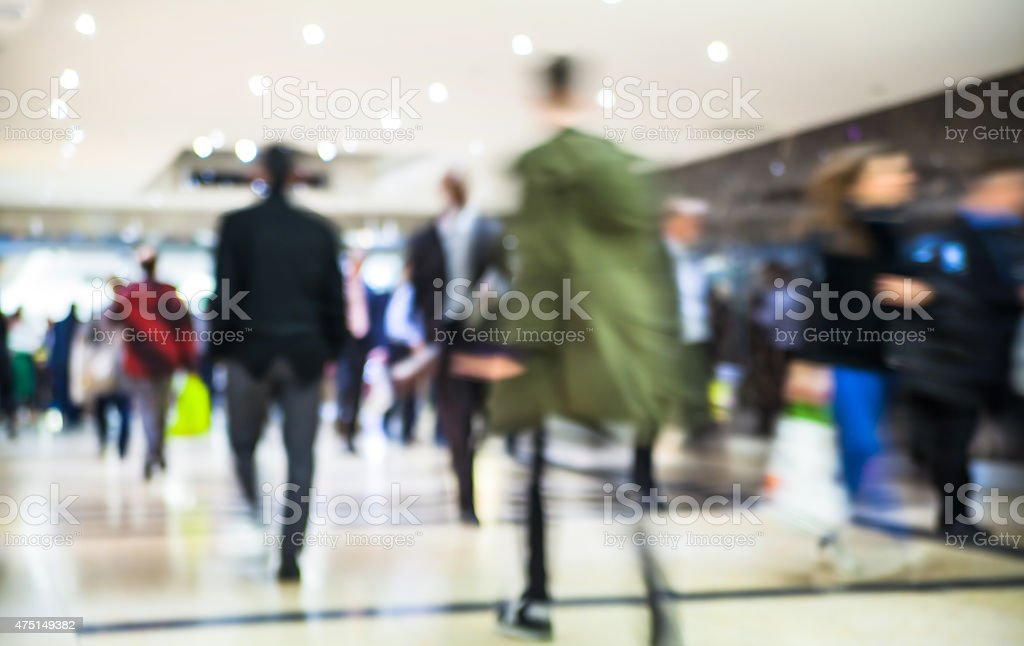 Walking people composition, Business and modern life concept stock photo
