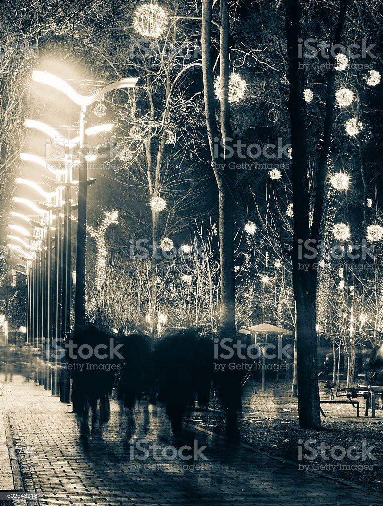A las personas de la ciudad, boulevard foto de stock libre de derechos