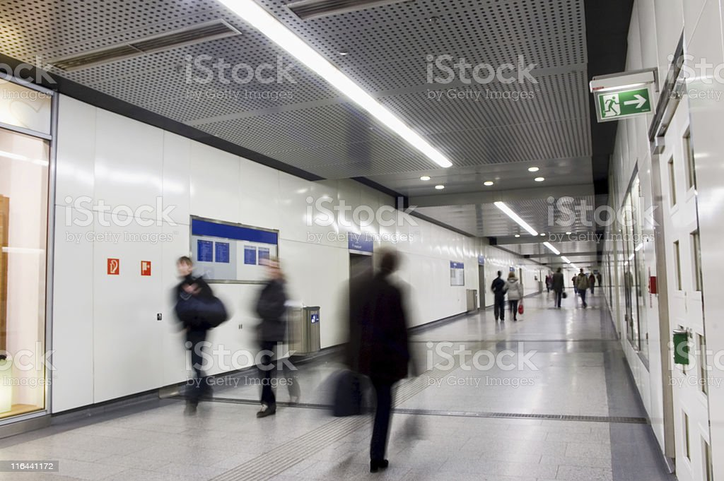 Walking Persons in Subway royalty-free stock photo