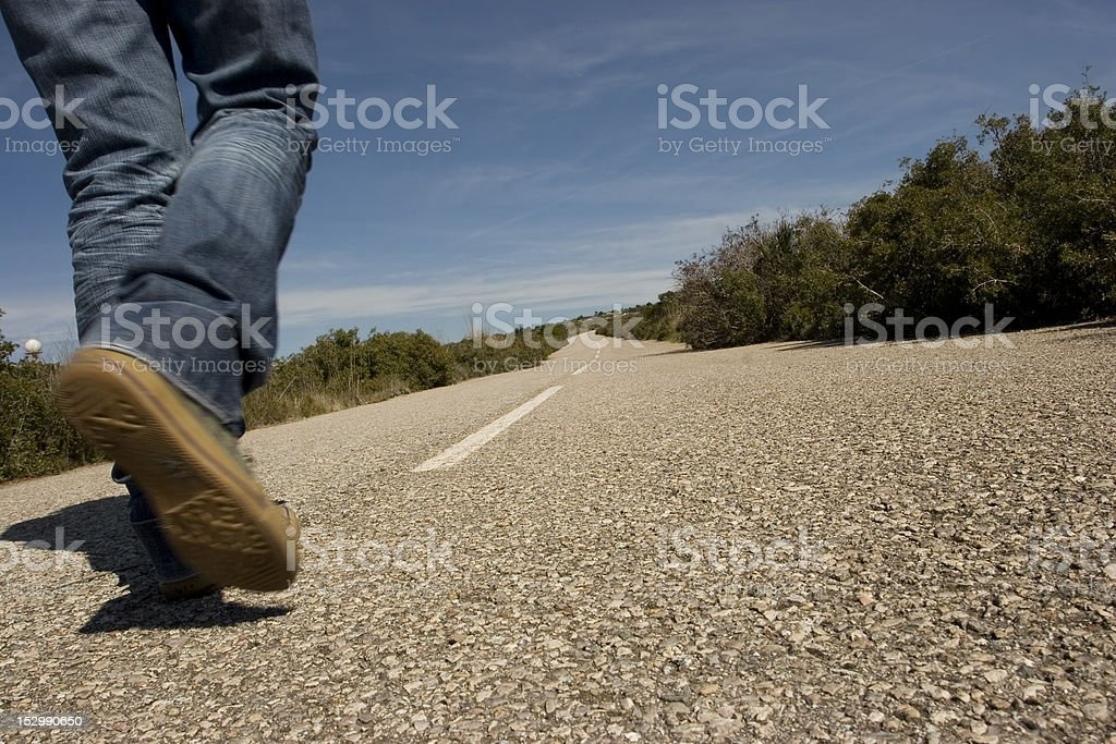 Walking stock photo