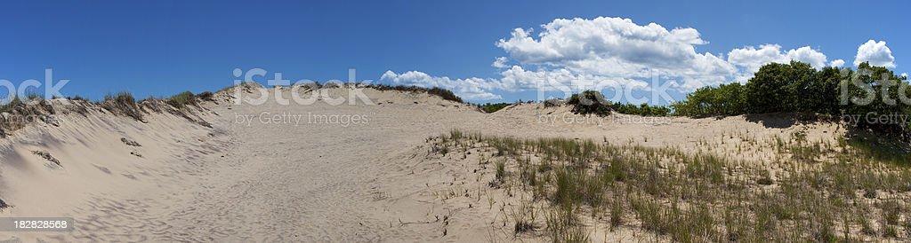 Walking Sand Dunes Panorama stock photo